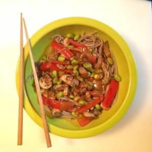thaiSOBA with Peanut sauce